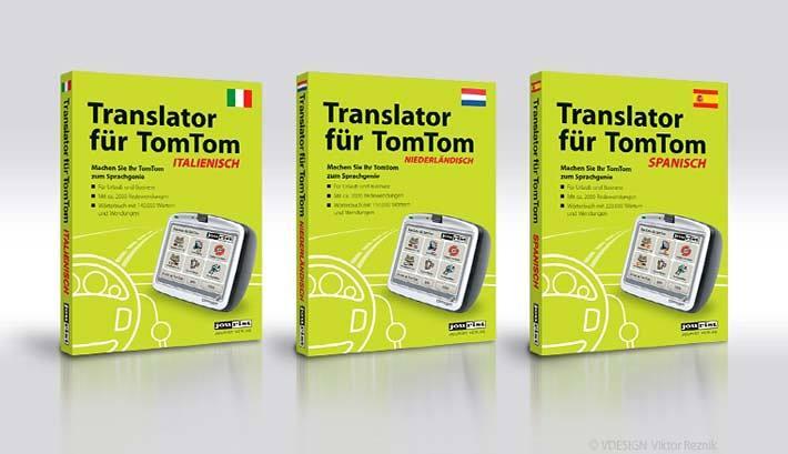 Verpackungsdesign | Translator für TomTom | Jourist Verlag