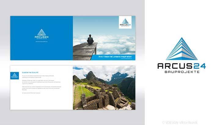 Corporate Design | Logogestaltung • Image Broschüre • Arcus24