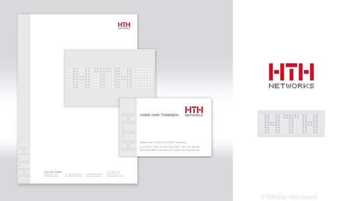 Corporate Design | Logogestaltung • Visitenkarten • Briefbogen • HTH Network