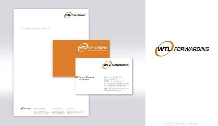 Corporate Design | Logogestaltung • Visitenkarten • Briefbogen • WTL Forwarding
