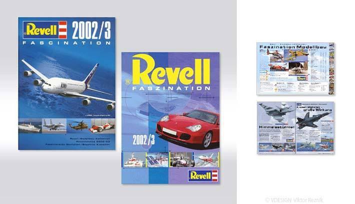 Artdirection, Layout des Revell Modelbau Kataloges