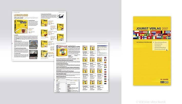 Artdirection, Layout des Jourist Kataloges