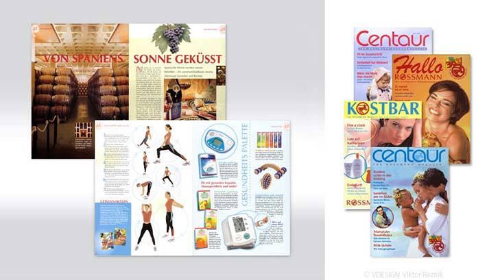 Artdirection, Layout der Kundenzeitschrift Centaur von Rossman