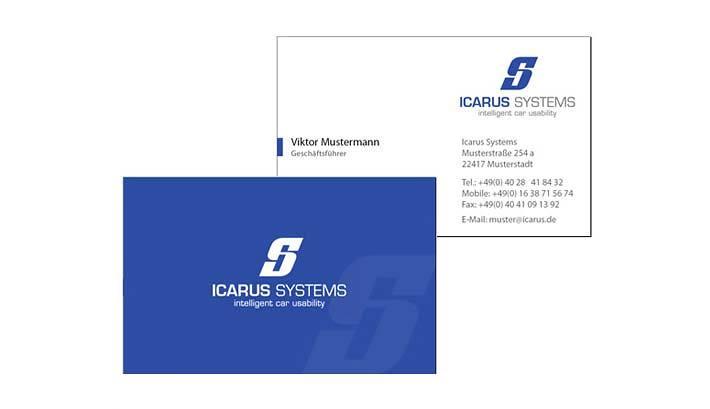 Logogestaltung | Visitenkarten | Icarus Systems