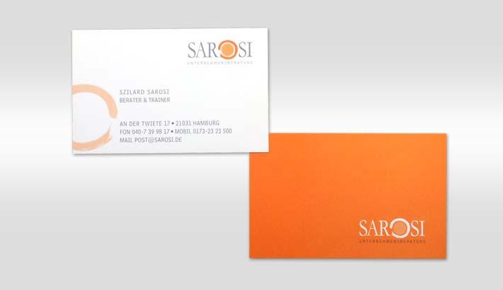 Visitenkarten Gestaltung und Druck | Sarosi