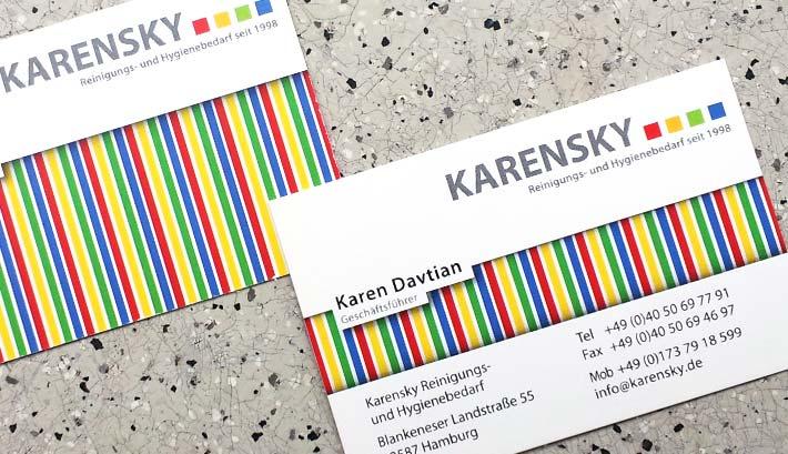 Visitenkarten Gestaltung und Druck | Karensky