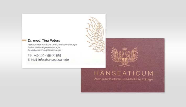 Visitenkarten Gestaltung und Druck | Hanseaticum