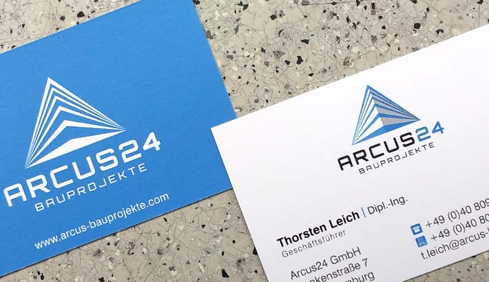 Visitenkarten Gestaltung und Druck | Arcus24