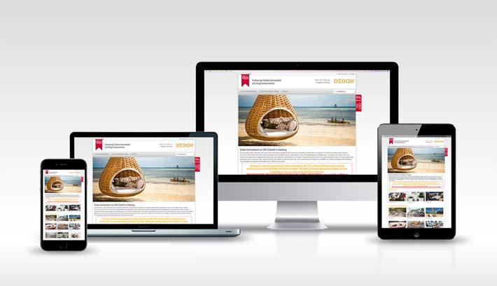 Webdesign | CMS Webseite Gestaltung | Dedon