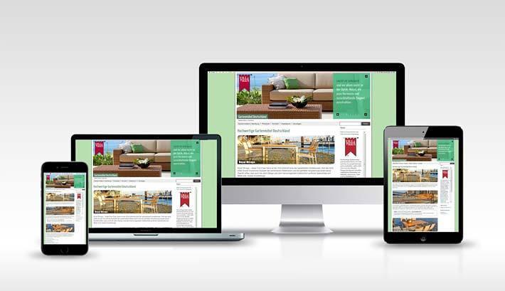 Webdesign | CMS Webseite Gestaltung | Gartenmöbel