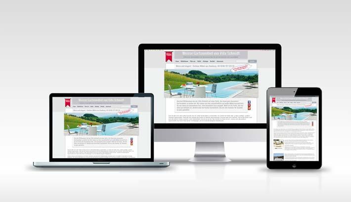 Webdesign | CMS Webseite Gestaltung | Weisse Gartenmöbel